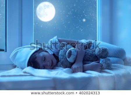 jong · meisje · slapen · boot · witte · achtergrond · oceaan - stockfoto © colematt