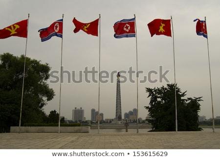 House with flag of north korea Stock photo © MikhailMishchenko