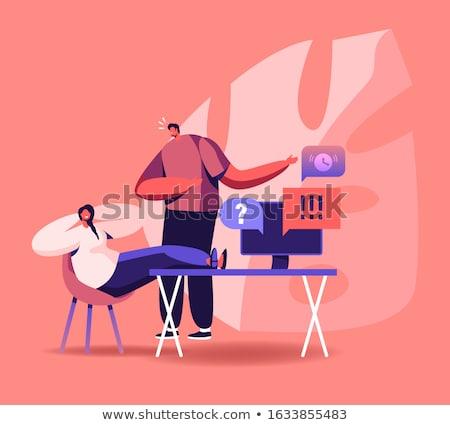Procrastinação empresário sessão pernas mesa de escritório trabalhar Foto stock © RAStudio