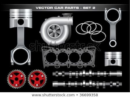 vektor · piros · szerszámosláda · autó · alkatrészek · izolált - stock fotó © dashadima