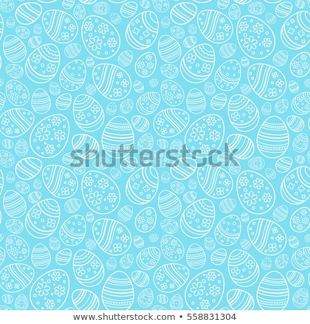 Easter background with decorative eggs Stock fotó © furmanphoto