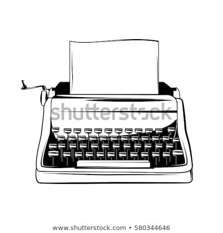 Schrijfmachine grafisch ontwerp sjabloon vector geïsoleerd illustratie Stockfoto © haris99