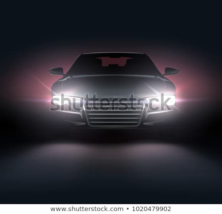Set of rides at night Stock photo © bluering