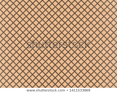 Brown craft paper with a black crosshatch pattern Stock photo © Zerbor