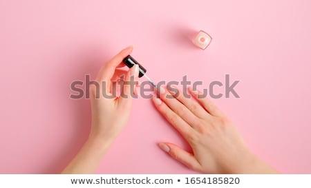 vrouwelijke · hand · nagel · borstel · vrouw - stockfoto © andreypopov