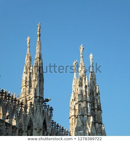 Dois milan catedral Itália blue sky cidade Foto stock © boggy
