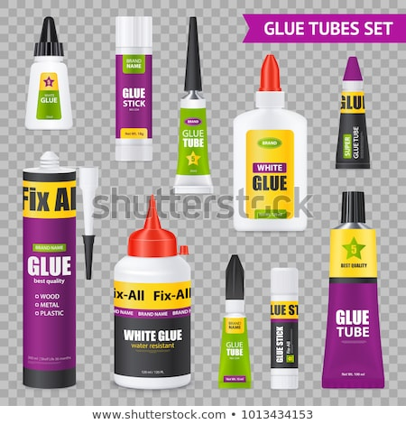 Glue Bottle Stationery Equipment Color Vector Stock photo © pikepicture