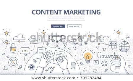 Tartalom marketing menedzser specialista elemző munka Stock fotó © RAStudio