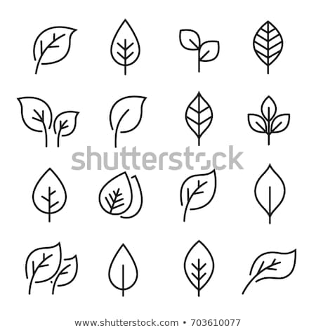 green icon set in outline style for nature care stock photo © cienpies