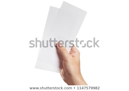 Personnes main deux billets Photo stock © AndreyPopov