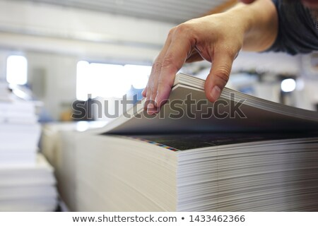 Working in printing factory Stock photo © pressmaster