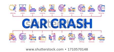 Car Crash Accident Minimal Infographic Banner Vector Stock photo © pikepicture