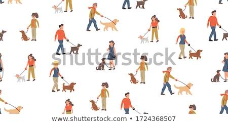 Masculino caminhada cão homem animal de estimação Foto stock © robuart