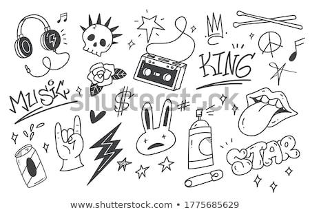 雷 手描き 実例 稲妻 サークル ストックフォト © barsrsind