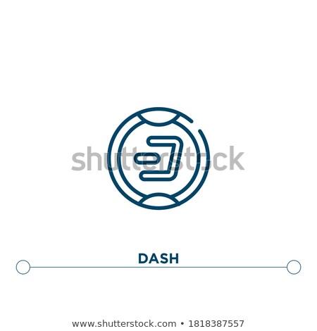 Dash cryptocurrency simple black icon Stock photo © evgeny89