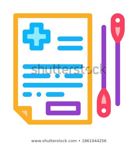 Acupunctuur medische icon vector schets illustratie Stockfoto © pikepicture
