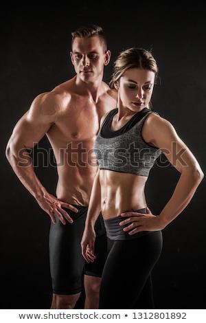 Fitness paar oefening biceps sterke Stockfoto © Jasminko