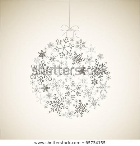 bruin · sneeuwvlokken · eps · 10 · abstract · natuur - stockfoto © orson