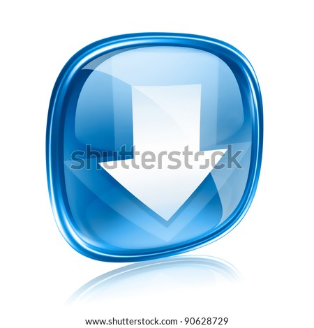 Simgesi indir mavi cam yalıtılmış beyaz Internet Stok fotoğraf © zeffss