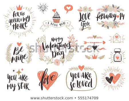 valentines day card with sunburst stock photo © adamson