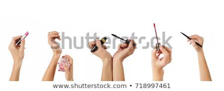 Mascara hand geïsoleerd witte vrouw mode Stockfoto © imarin