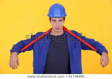 artigiano · enorme · chiave · costruzione · uomo - foto d'archivio © photography33