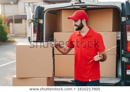 Almacén blanco dentro camión tienda Foto stock © lkeskinen