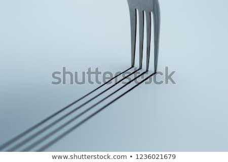 Tenedor sombra expresivo blanco estilo de vida moderna Foto stock © Pietus