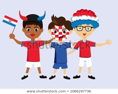cor · combinação · Croácia · cores · bandeira · projeto - foto stock © perysty