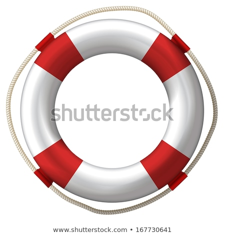 Life ring buoy in white Stock photo © experimental
