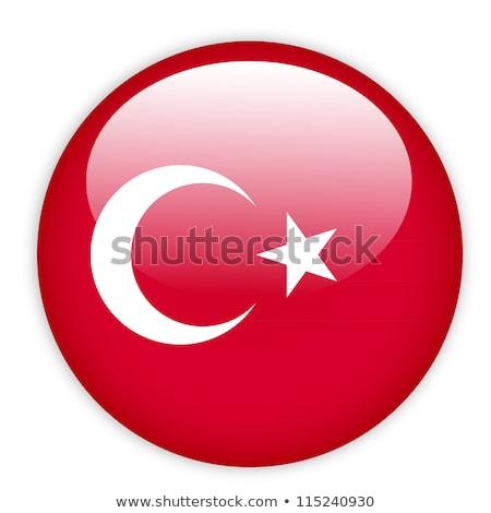 flag of turkey in button shape stock photo © experimental