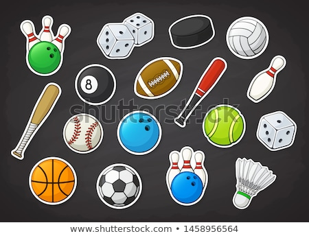 sportfelszerelés · golyók · illusztráció · háttér · művészet · asztal - stock fotó © jaylopez