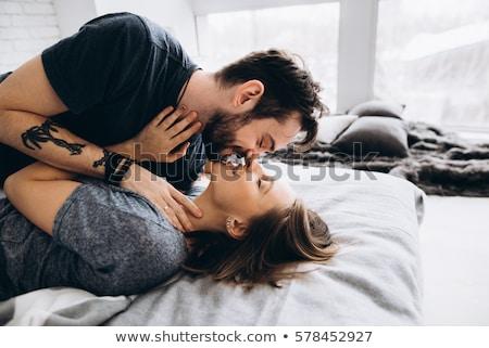 любви · пару · целоваться · новый · дом · Живопись - Сток-фото © photography33