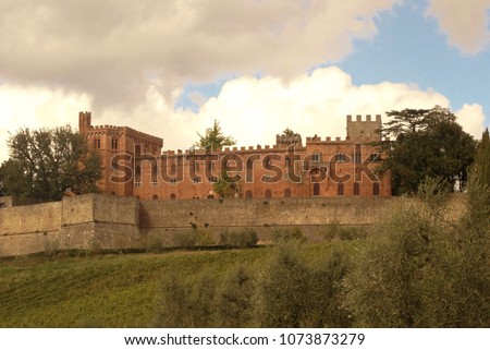 around Castle of Brolio Stock photo © prill