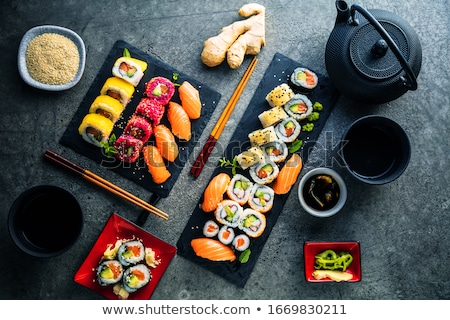 азиатских · закуска · ресторан · белый · обед - Сток-фото © m-studio
