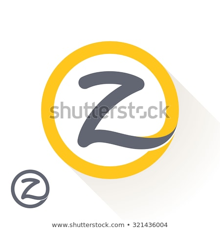 Letter Z as a sticker Stock photo © maxmitzu