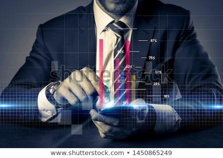 pénzügyi · elemzés · tőzsde · táblázatok · üzlet · növekedés - stock fotó © johnkwan