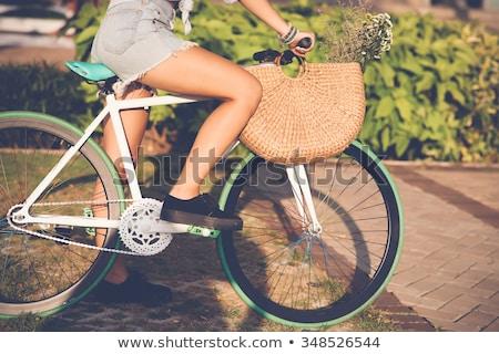 woman with riding crop Stock photo © dolgachov