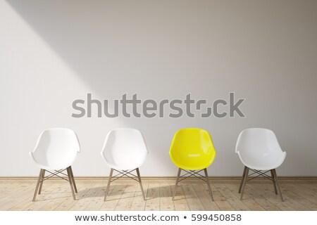 Three yellow chairs.Three yellow chairs.Three yellow chairs Stock photo © Forgiss