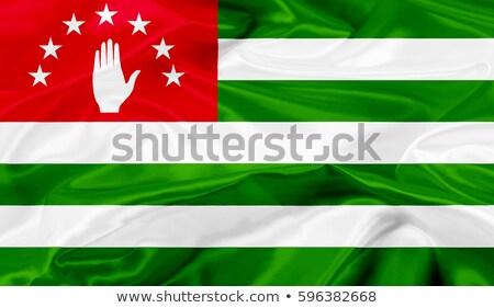 Fabric texture of the flag of Abkhazia Stock photo © maxmitzu