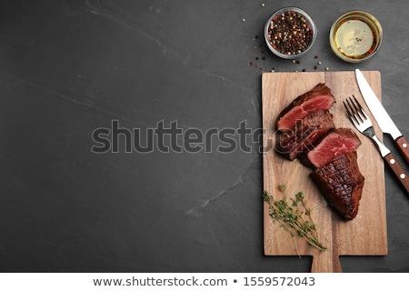 Stock fotó: Szeletel · steak · vacsora · fotó · szeletek · vesepecsenye