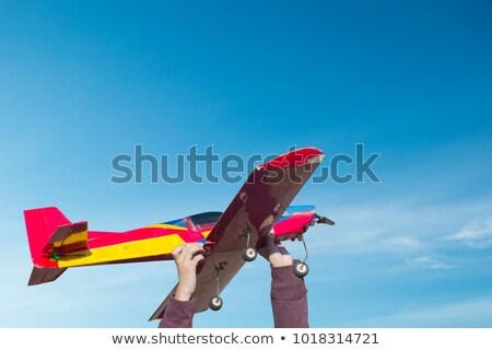 Dois homem céu grama modelo campo Foto stock © Discovod
