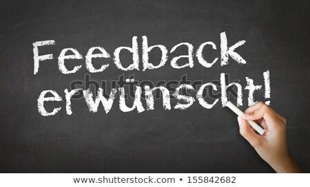 We Want Your Feedback (In German) Stock photo © kbuntu