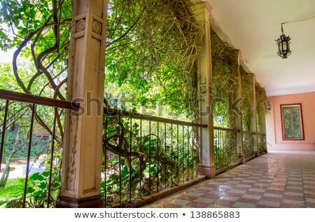Outside corridor at an spanish hacienda in Ecuador Stock photo © pxhidalgo