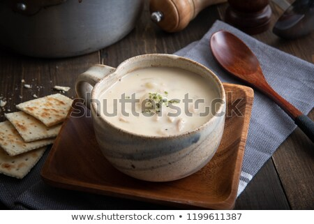 Soep kom nieuwe Engeland Stockfoto © stevemc