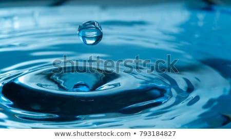 Su su damlası sıvı hareket soyut Stok fotoğraf © Tomjac1980