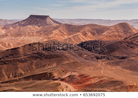 Stenen uniek krater Israël natuur landschap Stockfoto © meinzahn