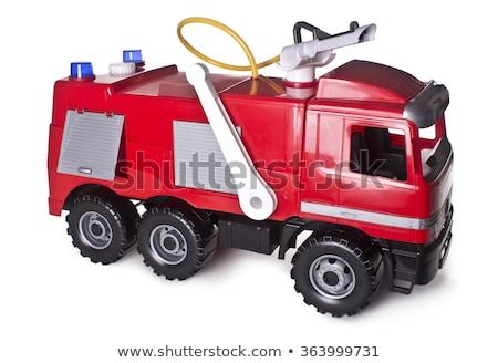 Starych antyczne metal zabawki czerwony wóz strażacki Zdjęcia stock © michaklootwijk
