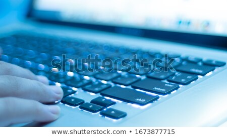 witte · toetsenbord · Blauw · verlichting · effect - stockfoto © jenbray