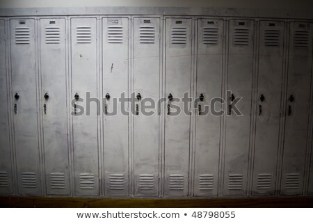 Stock photo: Old locker handle